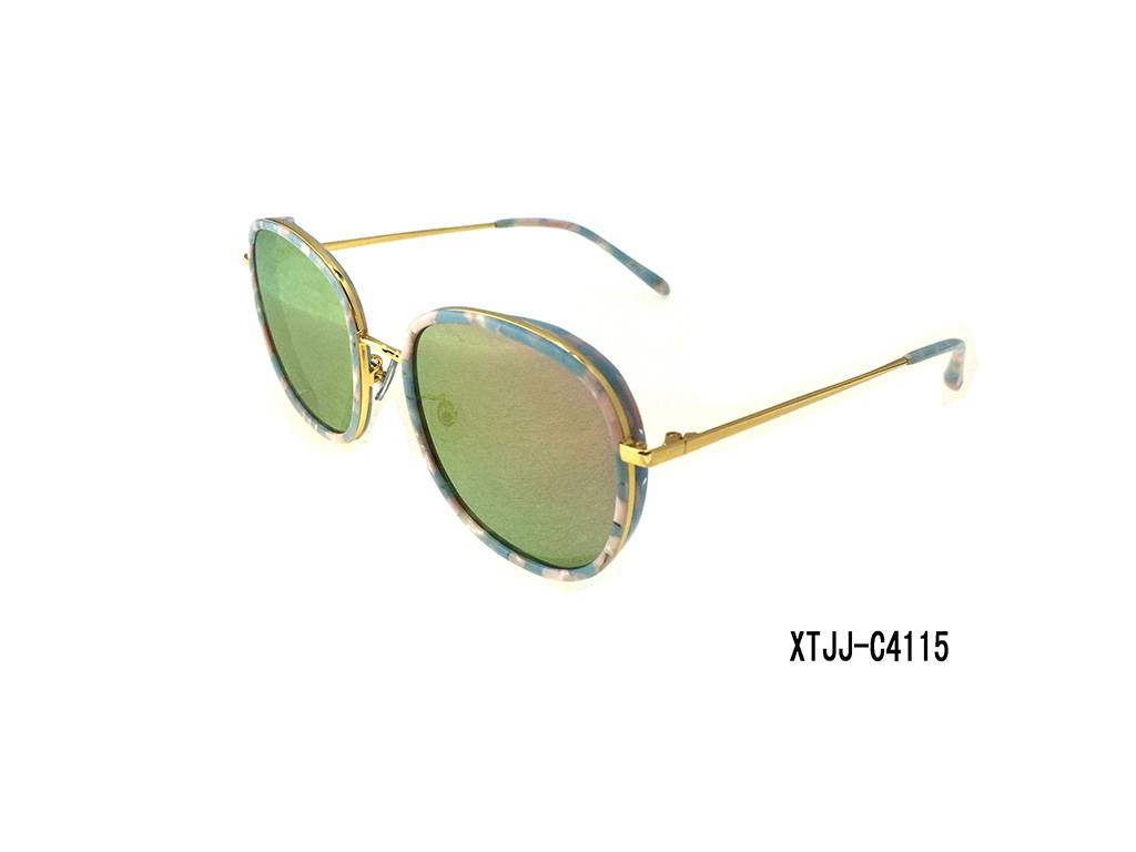 2016 Fashion style sunglasses ,plastic / metal mixed frame