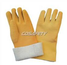 2104 Latex coated gauntlet gloves