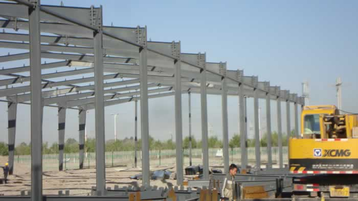 Frame steel structure-Hot dipped Galvanized steel structure