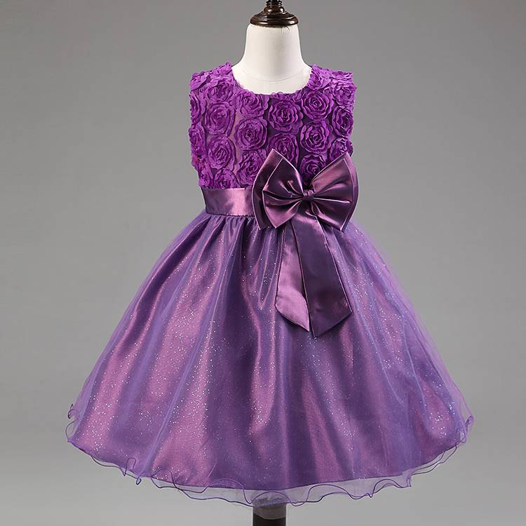sweet children girls formal dress ball gown court style chilldren beauty contest dress kids tutu wed