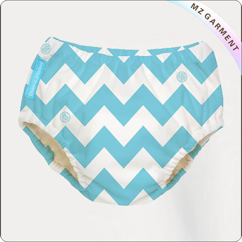 Baby Grey Chevron Swim Diaper