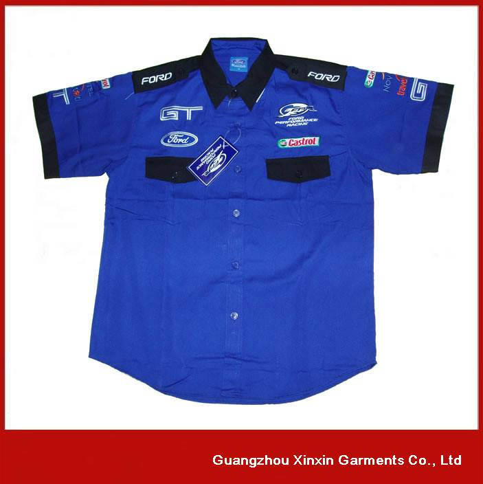 Custom embroidery 100% cotton pit crew F1 racing shirts for men S35