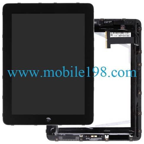 WiFi+3G Display Touch Panel Screen + LCD Screen for iPad(Black)