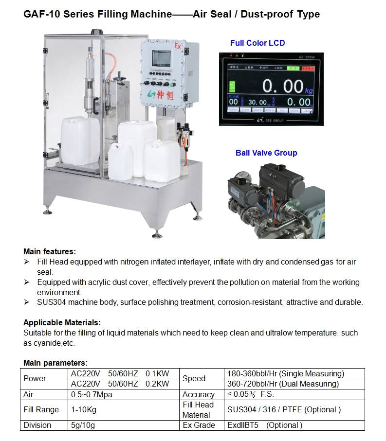 Weight based liquid filling machine