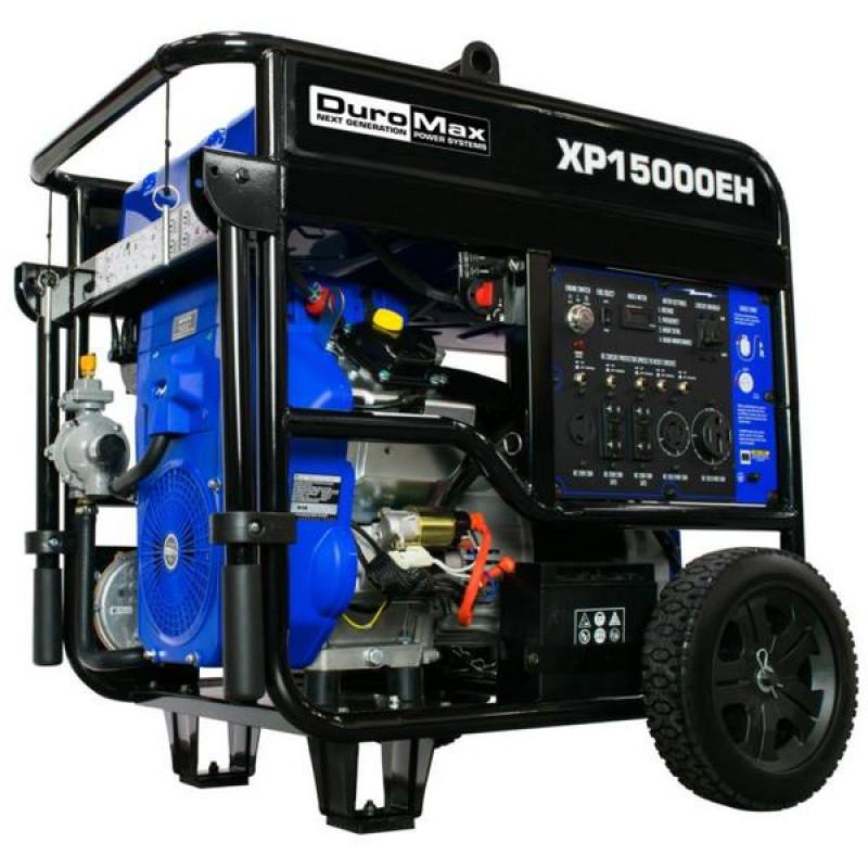 DuroMax XP15000EH 15,000-Watt V-Twin Electric Start Dual Fuel Hybrid Portable Generator