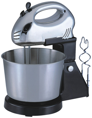 7 speeds Hand mixer with 3.0L bowl and chrome beaters