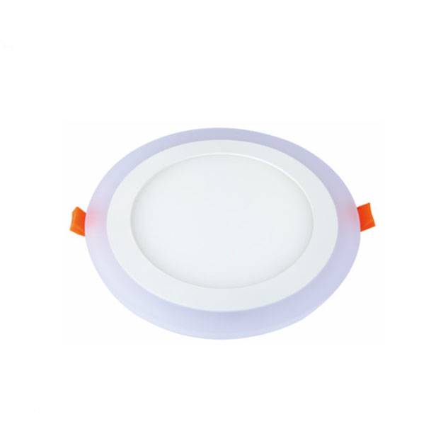 6W 9W 18W 24W new design recessed round slim 2 in 1 double color led downlight