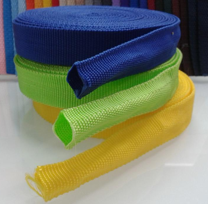 Customized tubular nylon webbing