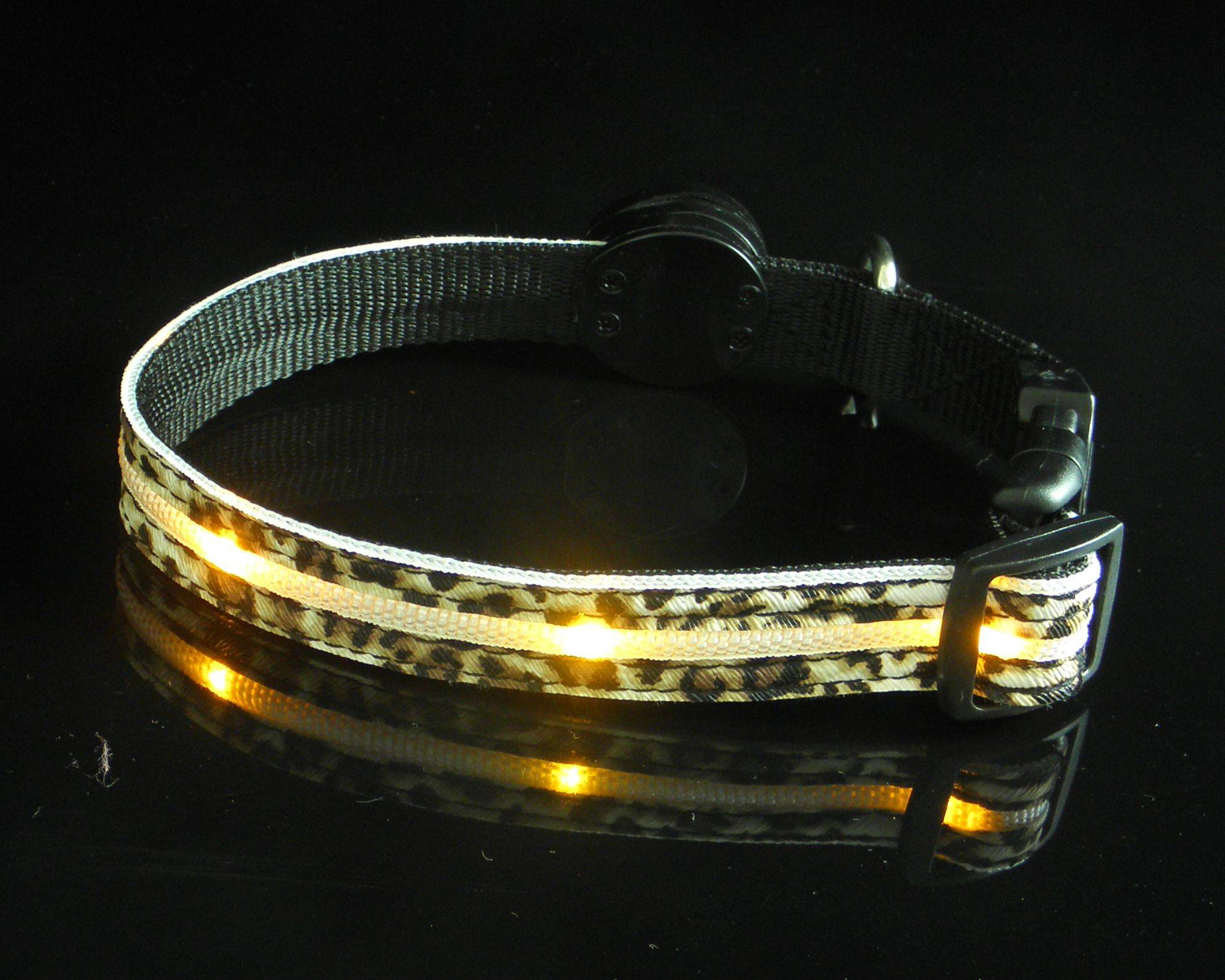 LED Leather pet  Dog Collars