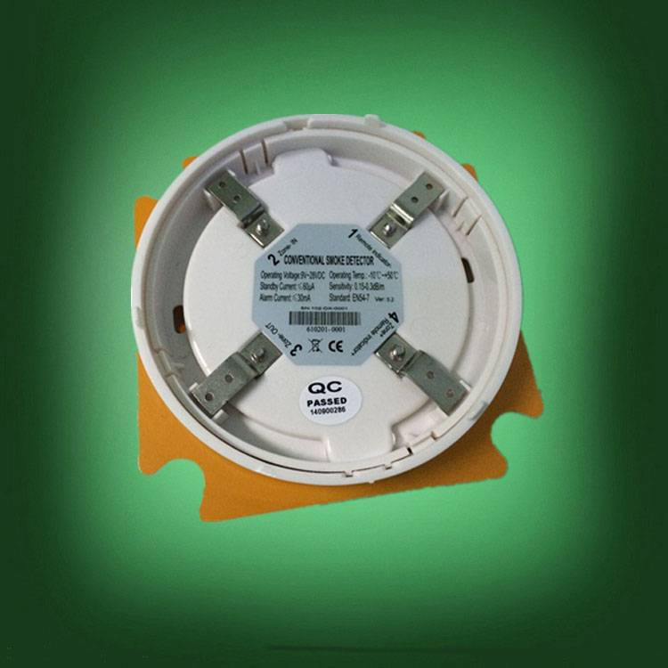 2-wire smoke detector and smoke alarm
