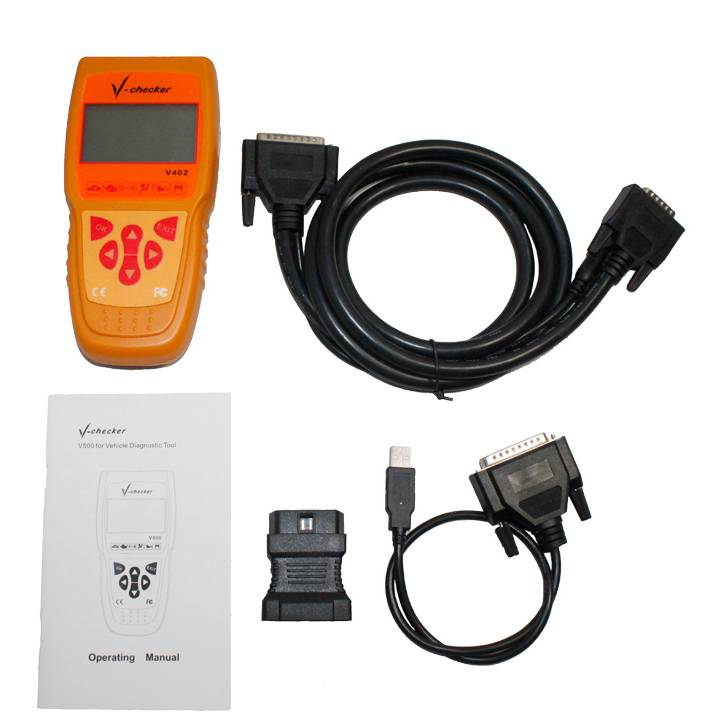 V-Checker V402 Retrieve ECU Information Car Diagnostic Scanner for VAG Diagnosis