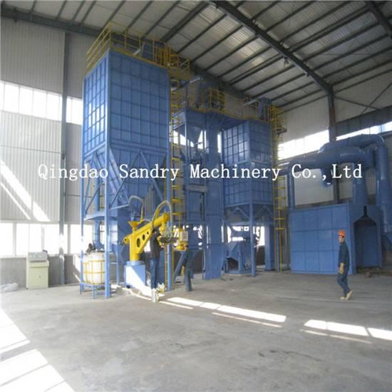 Sandry resin-bonded sand preparation and molding machine
