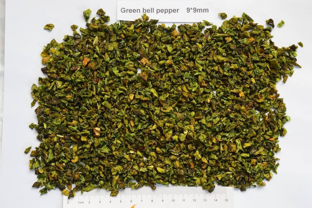 dried green bell pepper/dehydrated green bell pepper 9*9mm