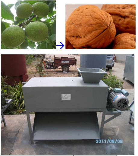 Sale green walnut shell peeling machine Mobile 0086-15238020668