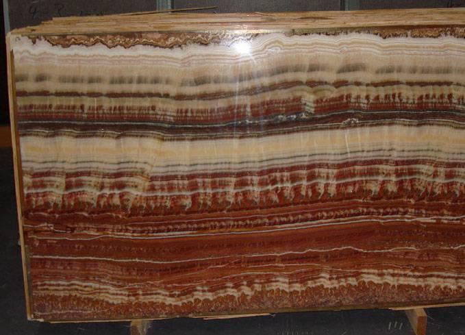 Seven color onyx slabs
