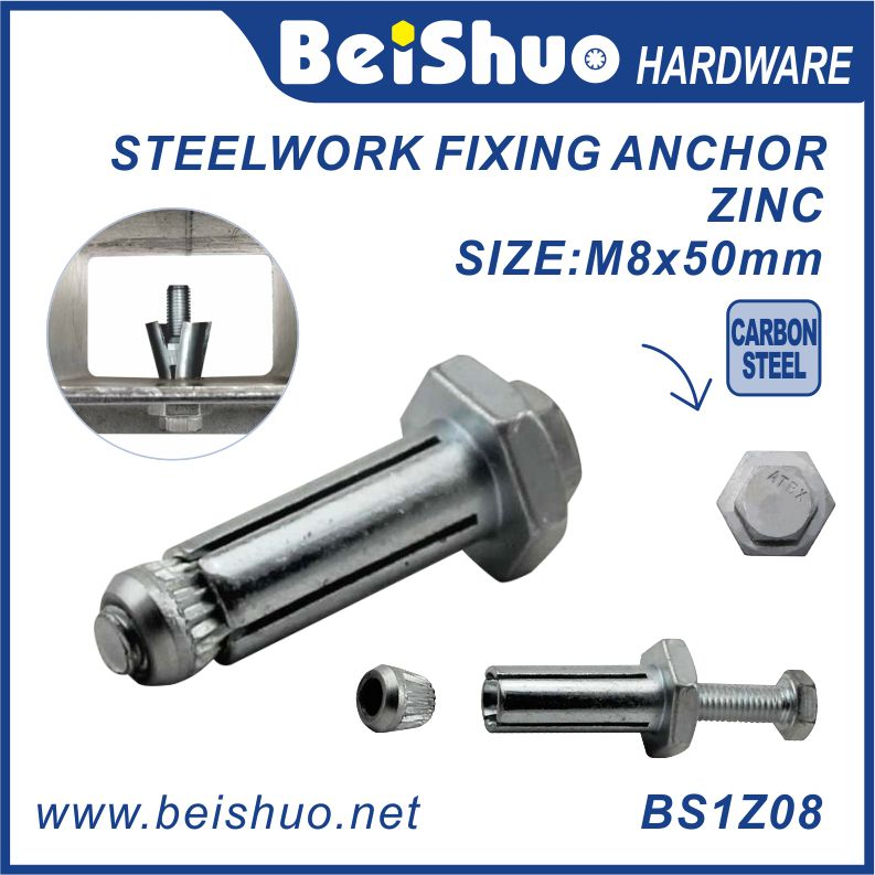BS1Z08 M8 Blind steelwork fitting/pipe connections/Expansion Anchor Bolt fastener