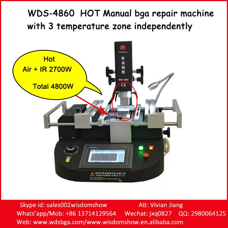 Hot manual bga repairing machine tools WDS-4860 with easy operation system