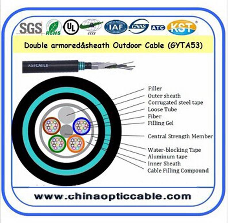 Double sheathed and Double armored cable (GYTA53 )
