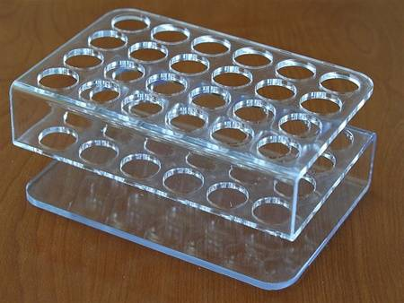 2014 hot sale acrylic test tube rack/test tube stand