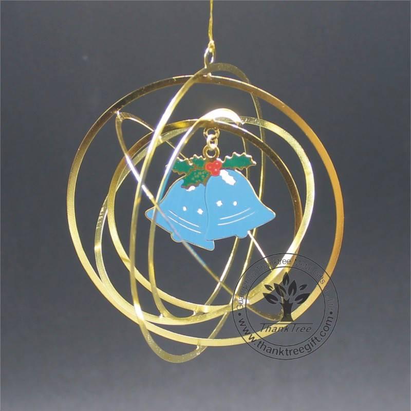Free Design Logo Metal Craft Christmas Ornament