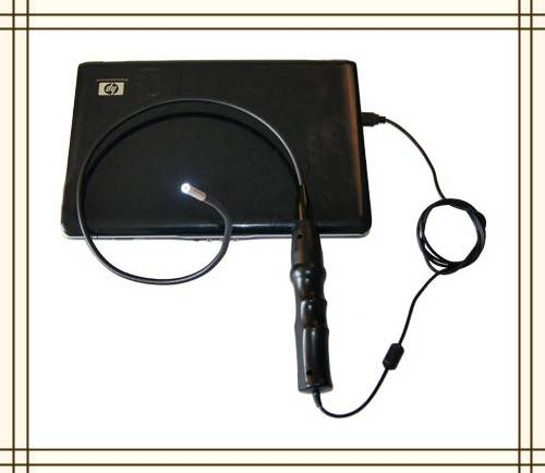 2012 Newest Portable Usb Industrial Endoscope Diameter 7mm With 6 LED
