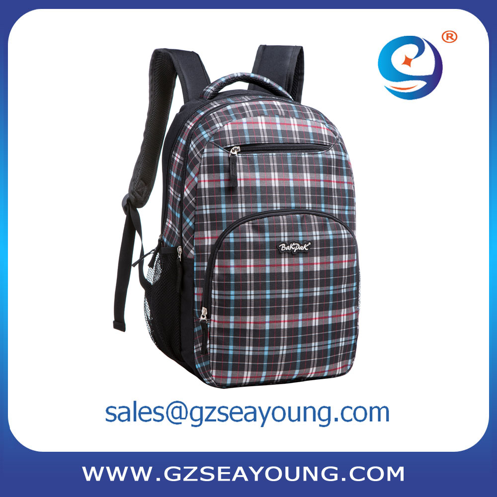 good quality classic checks backpack bag laptop backpack