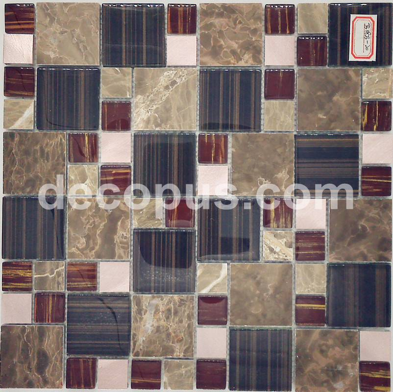 Supplier square mosaic tile for matching with ceramic tile