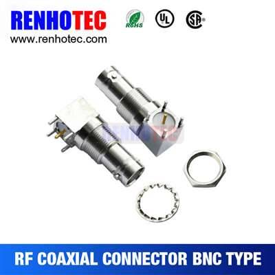 33.4mm Right Angle BNC Jack Connector For PCB Mount