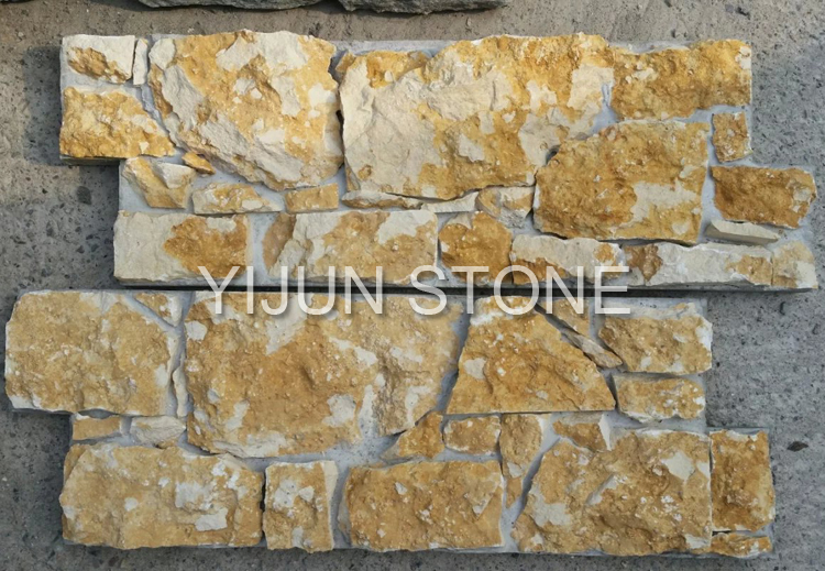 YIJUN STONE/ yellow natural stone/ Fireplace stone/ wall stone