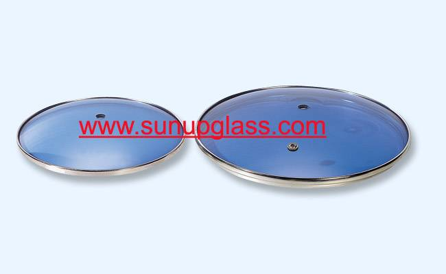 blue tempered glass lid glass cover for cookware