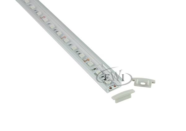 Super slim 7mm recessed led aluminum profile with flange