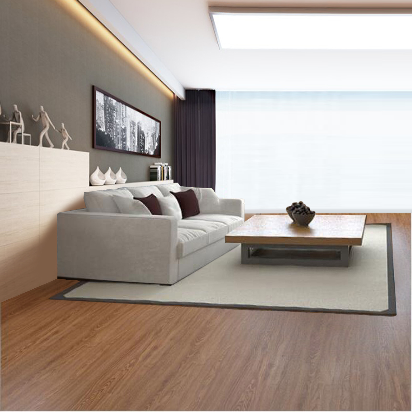 Durable sheet vinyl flooring for indoor usage