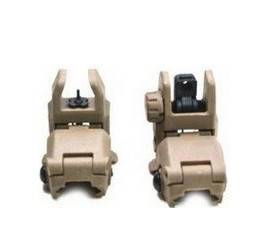 Tactical Dark Earth Front and Rear Back-up Sight Set Tan