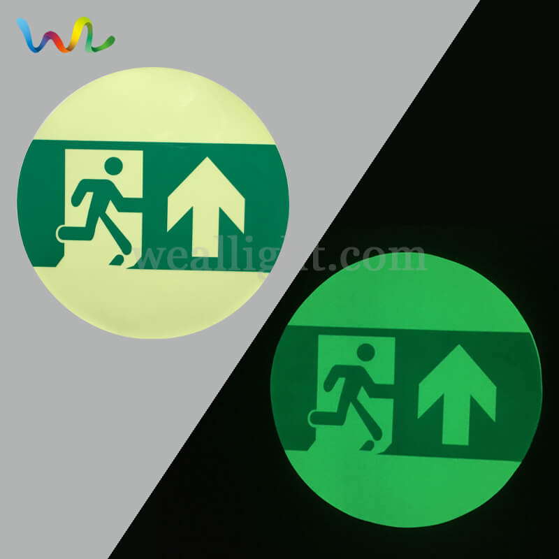 Glow In The Dark Exit Signs, Photoluminescent Exit Signs, Self Luminous Exit Signs