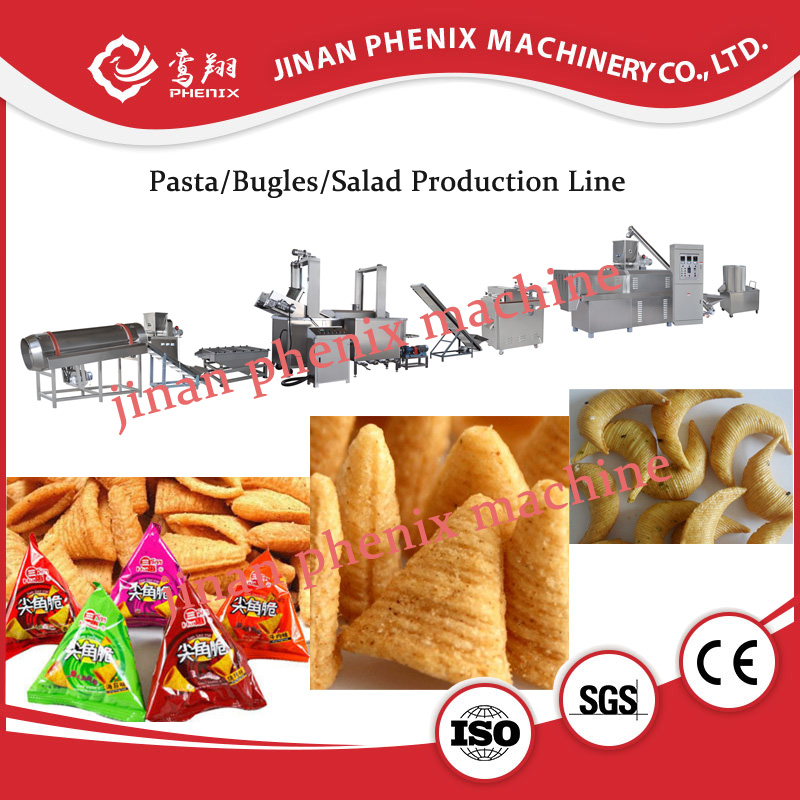 full automatic frying bugles extruder making machine