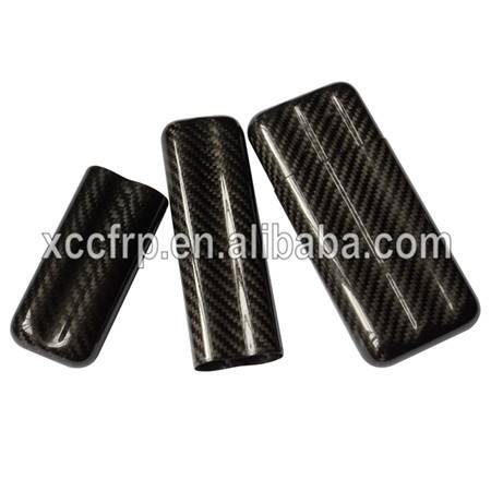 Hot Sales Light Weight Portable Glossy Carbon Fiber Cigar Box Case