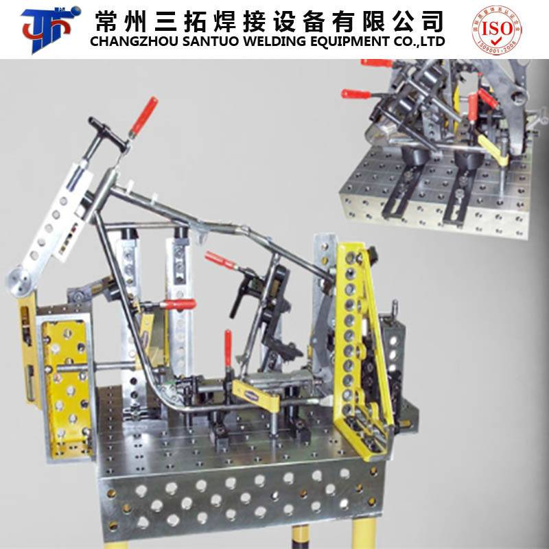 3D Clamping System for Motorcycle Frame Welding