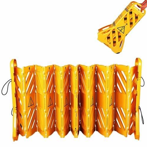 Wheeled folding plastic fence