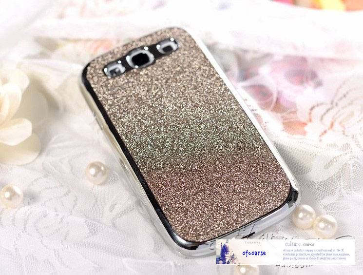 glitter case for samsung galaxy s3 i9300 leather and plating cover