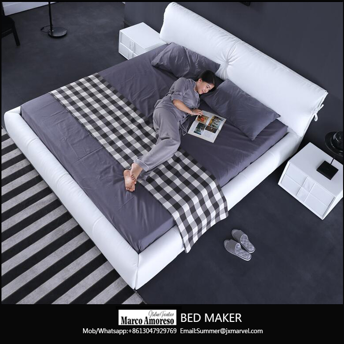 Alibaba wholesale genuine leather bed with storage latest leather bed designs