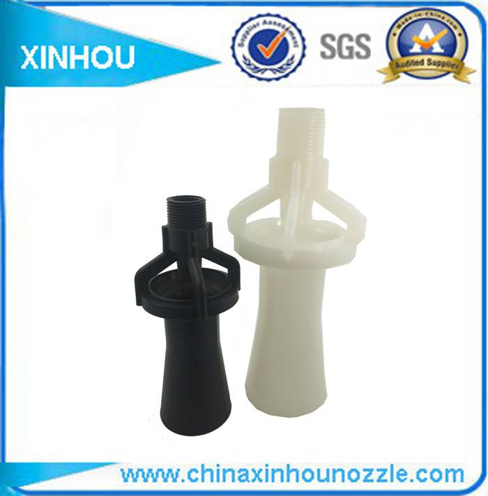 Plastic water cleaning venturi mixing fluid nozzle