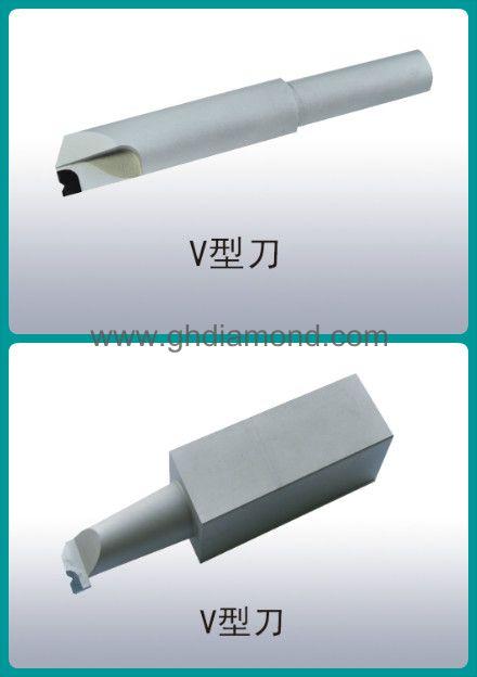 PCD  diamond V-shape cutting tool