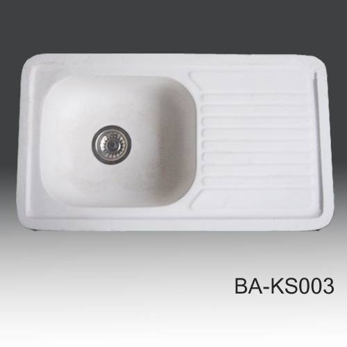 Classic Solid Surface white kitchen sinks