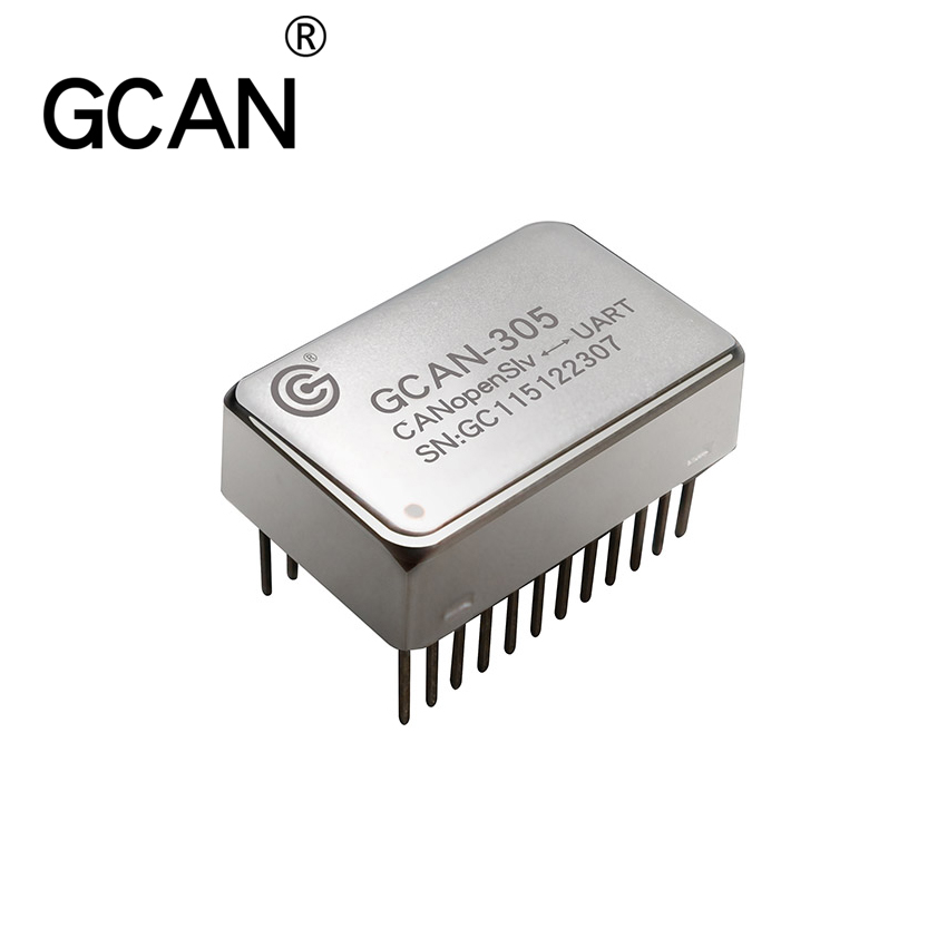 GCAN-305 Embedded CANopen (Slave) to UART module with two UART