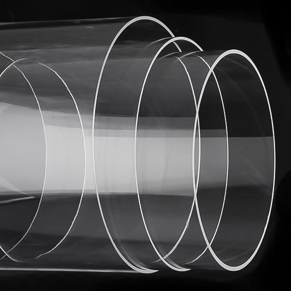 Large Diameter Clear Quartz Glass Tube
