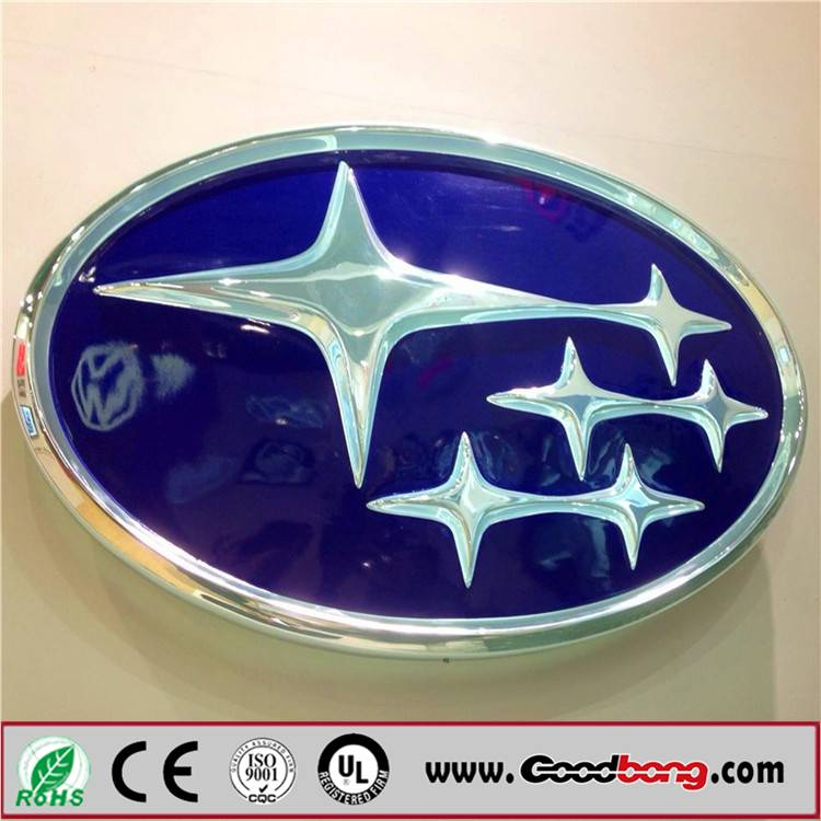 Outdoor 3D Acrylic LED Light Car Sign for Exhibition