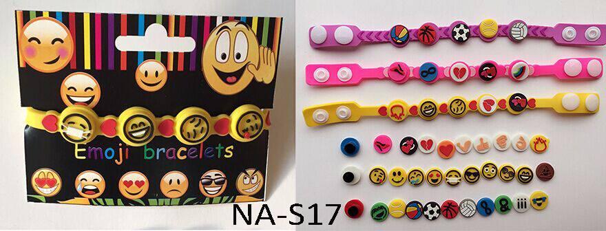 DIY emoji pvc bracelet,emoji wristband,novelty bracelet