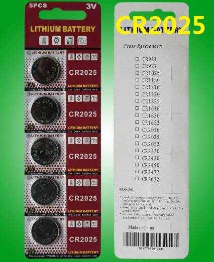 CR2025 CR2032 CR2016 3V button cell battery lithium coin cells