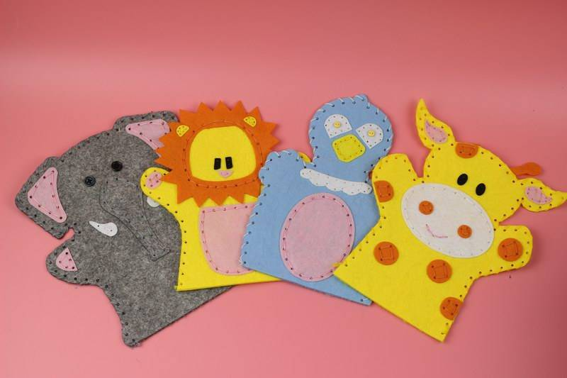 Kids Craft Make Your Own Animals Hand Felt Puppet
