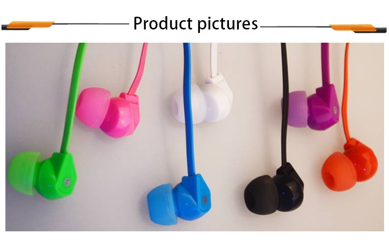 hifi stereo plastic cheap in-ear noodle cable earbuds mobile accessories custom colorful  earphone w